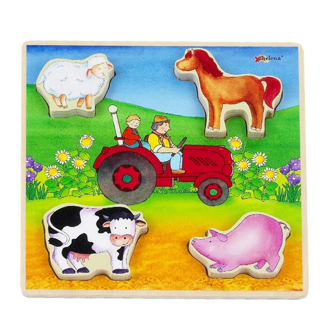 Reliefpuzzle: Bauernhoftiere, Safari, Verkehr