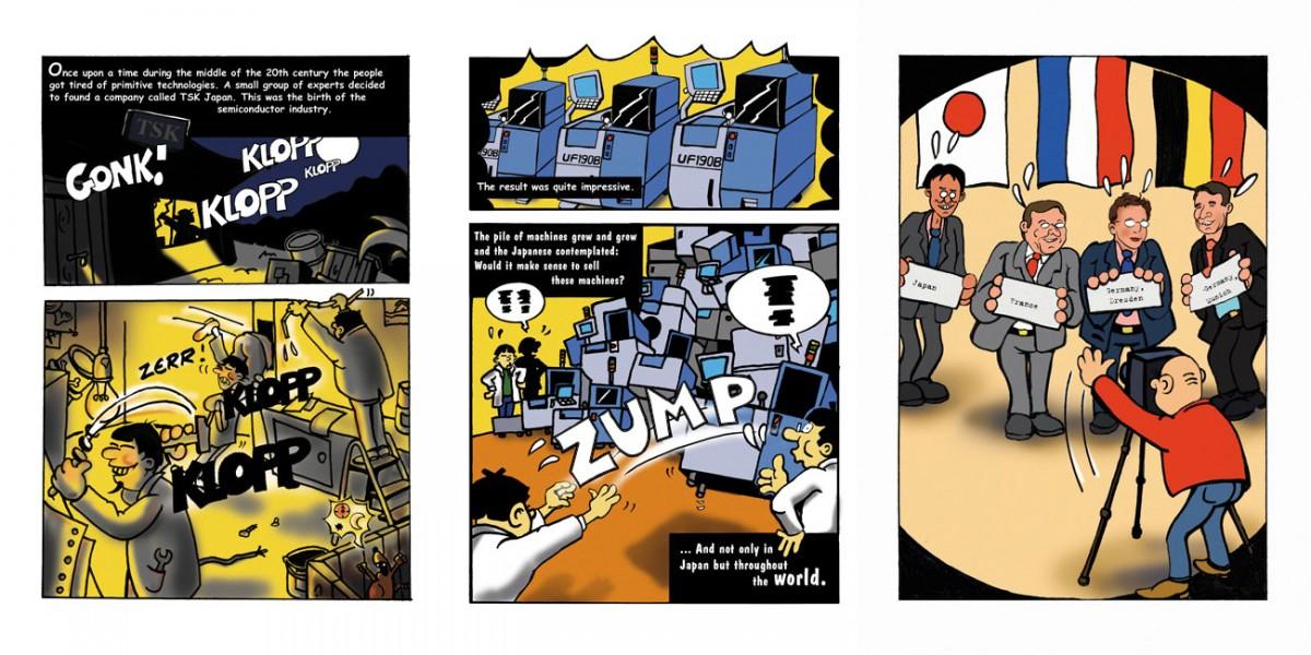 Comic zur Unternehmensgeschichte