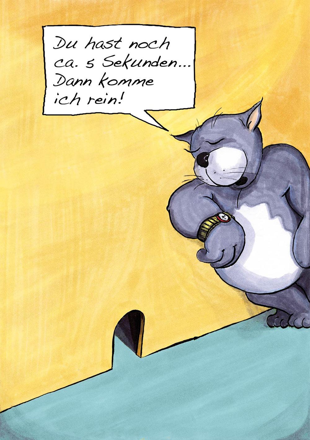 Cartoon Gary Braun Thema Katz und Maus