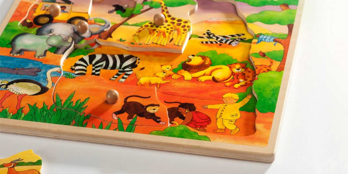 Wooden Toys Knobpuzzle